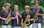 Swedish saxophone quartet Rollin'Phones, photographer Jan Levander